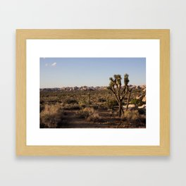 Losing all touch... building a desert Framed Art Print