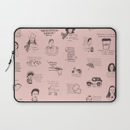 Gilmore Girls Quotes in Pink Laptop Sleeve