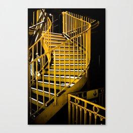 Yellow Staircase, Eiffel Tower Canvas Print