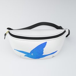 Le Baiser 1957 Reproduction, The kiss, by Rene Magritte Inspired Design Fanny Pack