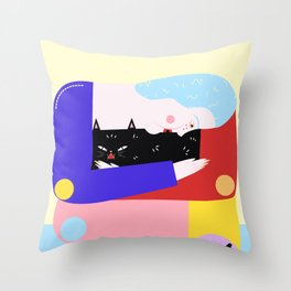 prrrfect Throw Pillow