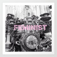 feminist Art Prints featuring FEMINIST  by L. Jamie