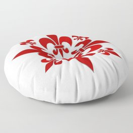Fleur de Lis pattern Floor Pillow