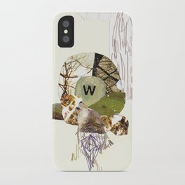 W is for Wolf iPhone Case