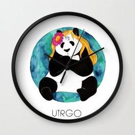 Panda Zodiac Virgo Wall Clock