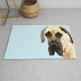 Great Dane Art - Dog Painting by Sharon Cummings Rug
