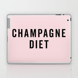Champagne Diet Funny Quote Laptop & iPad Skin