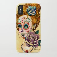 fitzgerald iPhone & iPod Cases featuring Dia de los Muertos Roses by Cathy FitzGerald