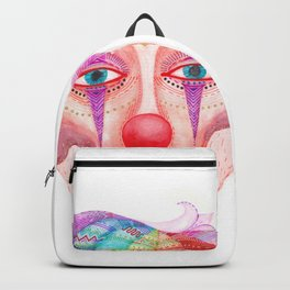 trust the clown mask portrait Backpack