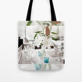 White Lily flowers bridal decoration Tote Bag