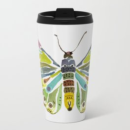 Colorful Butterfly Metal Travel Mug