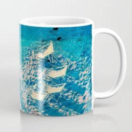 Deck chairs by the sea.. Coffee Mug