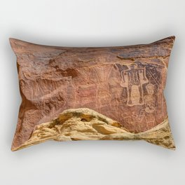 Three Kings Petroglyph - Mcconkie Ranch - Utah Rectangular Pillow