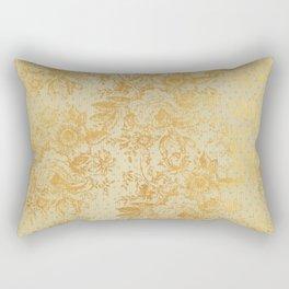 golden vintage damask floral pattern Rectangular Pillow