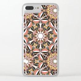 Arabesque doodle Clear iPhone Case