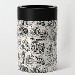 Alice in Wonderland | Toile de Jouy | Black and Beige Can Cooler