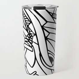 Adult coloring abstract lineart Travel Mug