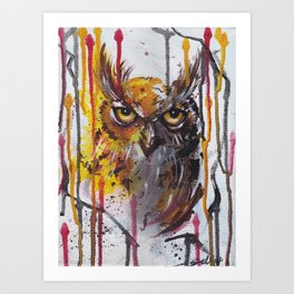 Howlin' Owl Art Print