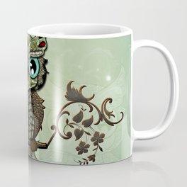 Cute  owl, green diamond Coffee Mug