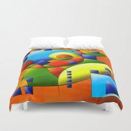 Fantisimella - colourful birdy abstract Duvet Cover