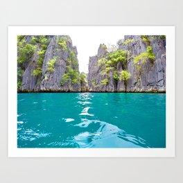 Twin Lagoon Art Print