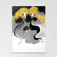 twins Stationery Cards featuring Twins by Dnzsea