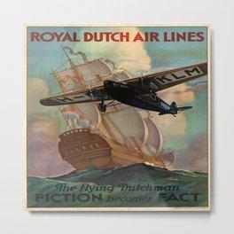 Vintage poster - Royal Dutch Airlines Metal Print