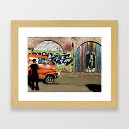 Tire Watching Framed Art Print