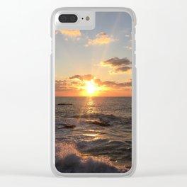 Mediterranean Sunset (Joppa) Clear iPhone Case