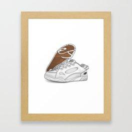 eS Muska - White Framed Art Print