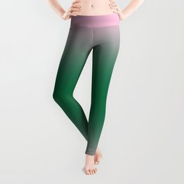 Cotton Candy Pink to Cadmium Green Bilinear Gradient Leggings