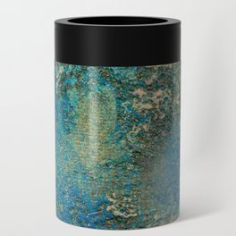 Blue And Gold Modern Abstract Art Painting Can Cooler