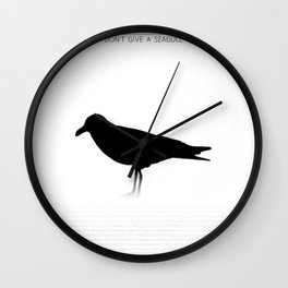 Don't Give a Seagull Wall Clock