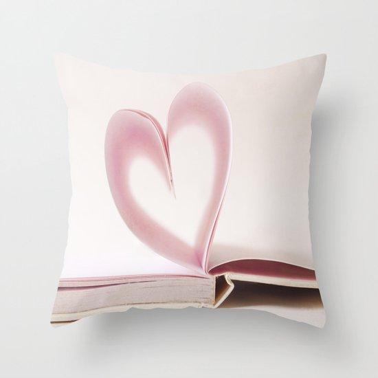 Valentine Pastel Heart  Throw Pillow