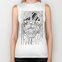 zappa Biker Tanks featuring Frank Zappa by JeanMar