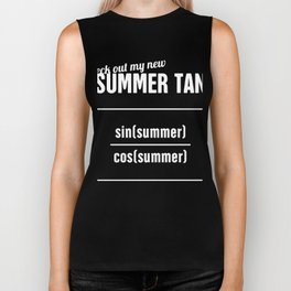 Summer Tan - Funny Statistics Teacher Design Biker Tank