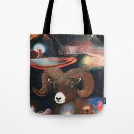 Aries - Zodiac Wildlife Series Tote Bag