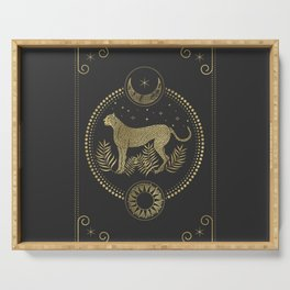 Wild Cheetah and the Moon Serving Tray