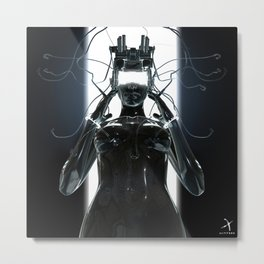 CYBERCRIME Metal Print