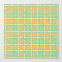8 Bit plaid |Springtime Canvas Print