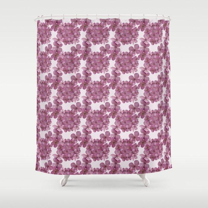 Hydrangea Pink Shower Curtain