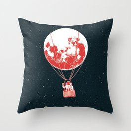 space moon balloon Astronaut Throw Pillow