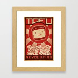 Tofu Revolution Framed Art Print