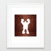 wreck it ralph Framed Art Prints featuring Wreck It - Ralph by albert Junior