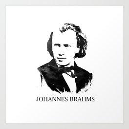Johannes Brahms Art Print