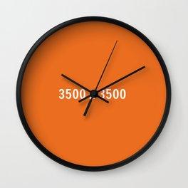 3000x2400 Placeholder Image Artwork (Etsy Orange) Wall Clock