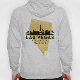 LAS VEGAS NEVADA SILHOUETTE SKYLINE MAP ART Hoody