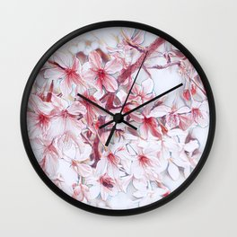 Delicate Floral 118 Wall Clock