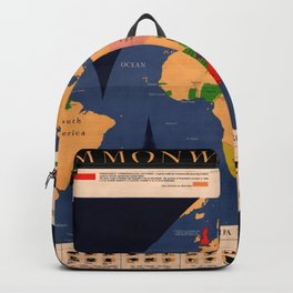 Map Of The British Commonwealth 1950 Backpack