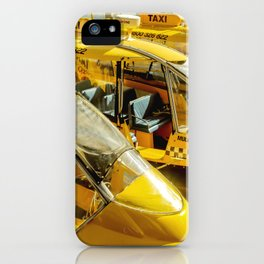 Yellow Taxi Boats iPhone Case